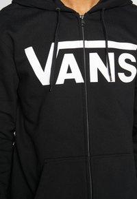 Vans - MN VANS CLASSIC ZIP HOODIE II - Bluza rozpinana - black/white - 5