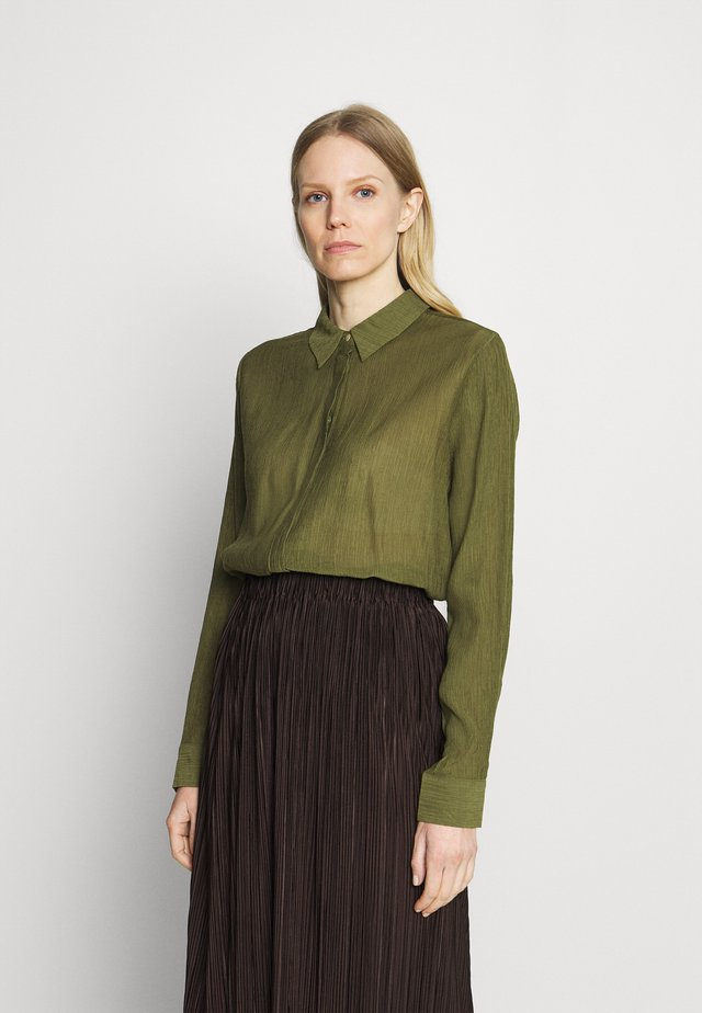 MORINA SHIRT - Button-down blouse - capulet olive
