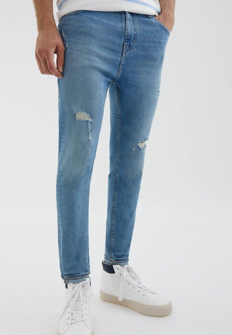 PULL&BEAR - Jeans slim fit - light blue