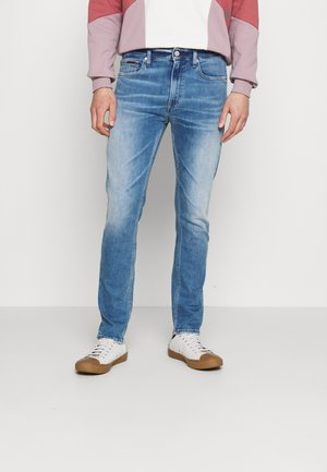 SIMON SKINNY - Flared Jeans - denim