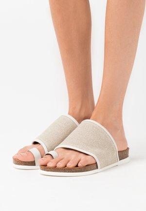 CALERO - T-bar sandals - ivory