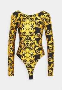 Versace Jeans Couture - LADY BUSTIER - Top sdlouhým rukávem - black - 6