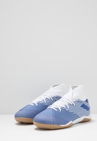 adidas Performance - NEMEZIZ 19.3 IN - Halové fotbalové kopačky - footwear white/royal blue - 2