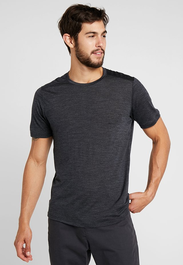 MENS SPHERE CREWE - Basic T-shirt - black heather