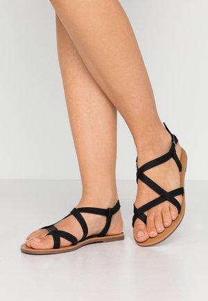 TYRA MULTI STRAP  - T-bar sandals - black