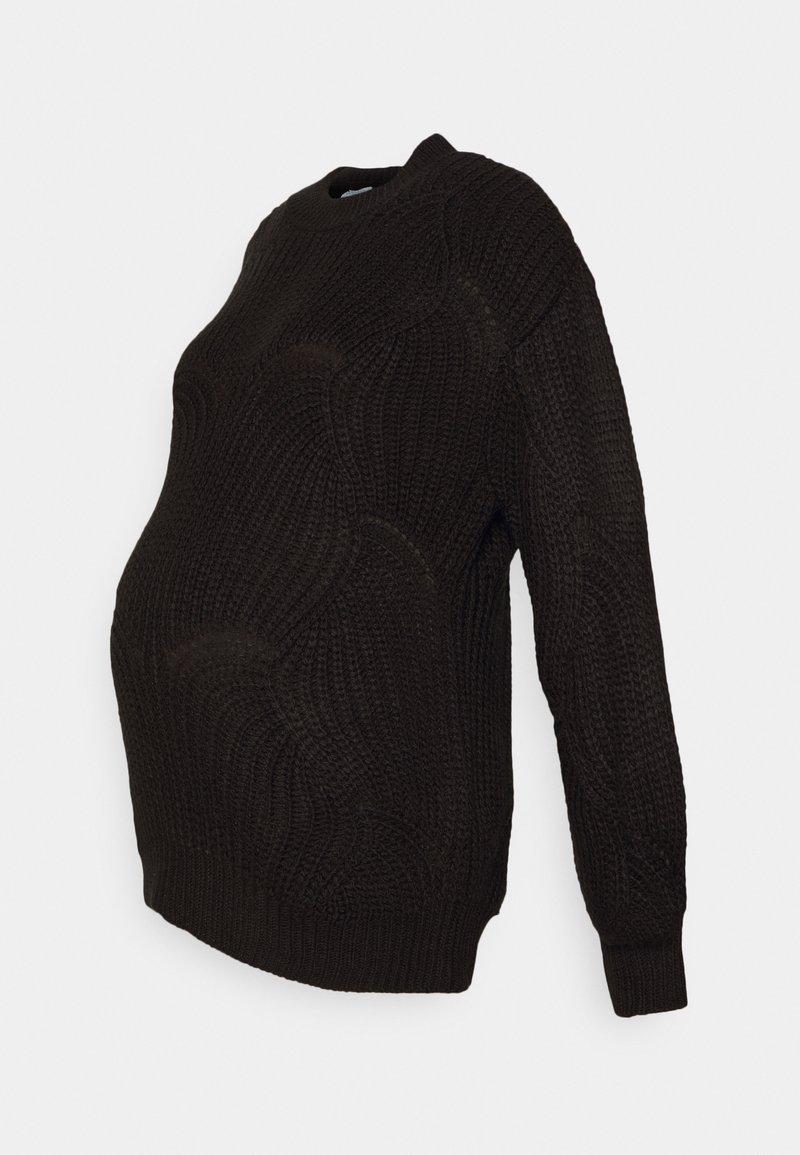 Pieces Maternity - PCMBENITA ONECK - Jumper - black