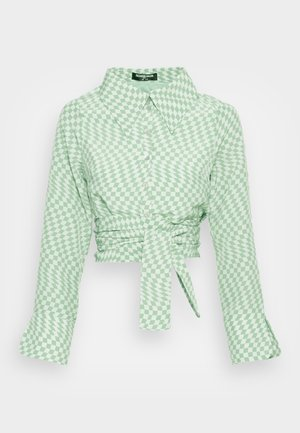 HAMMER OPEN BACK WRAP BLOUSE - Blusa - green