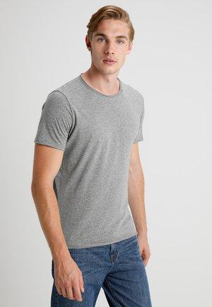Basic T-shirt - dark grey melange