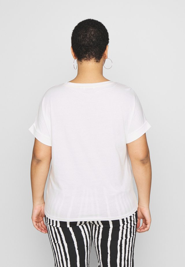 T-SHIRT WITH PLACEMENT PRINT - Print T-shirt - whisper white