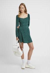 Missguided Tall - MILKMAID SKATER DRESS POLKA - Day dress - green - 2