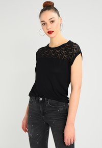 ONLY - T-shirt imprimé - black - 0