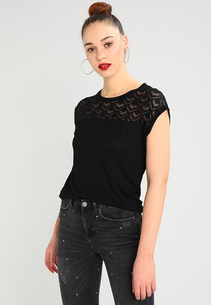 ONLNICOLE LIFE MIX - Camiseta estampada - black