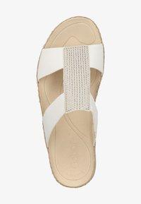 Gabor - PANTOLETTEN - Wedge sandals - weiss/ice 20 - 1