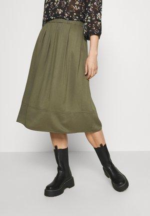 KIA MIDI - Áčková sukně - military