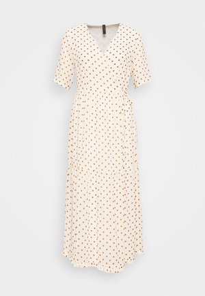 YASGREENISH DOT WRAP DRESS - Vestido informal - eggnog/tiger eye