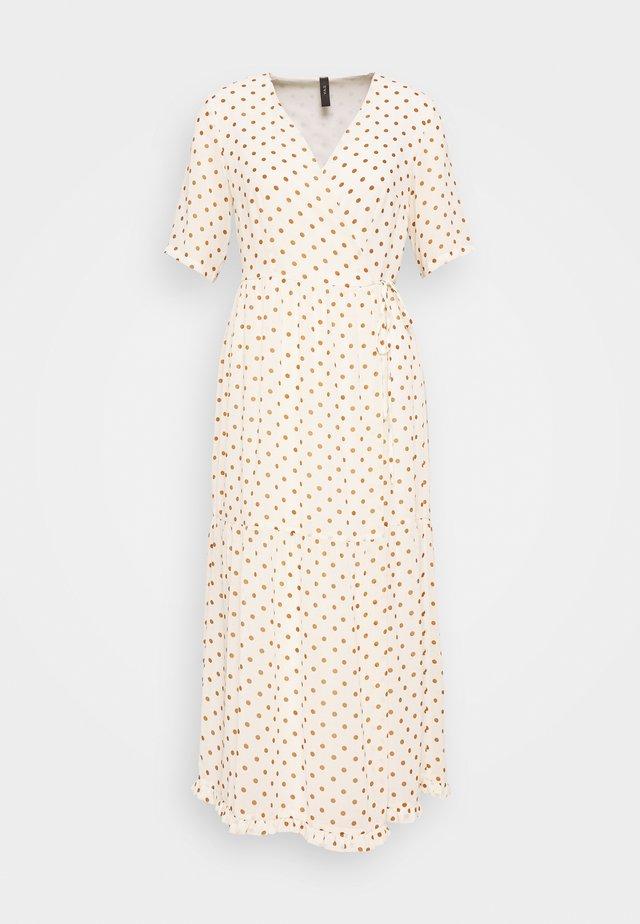 YASGREENISH DOT WRAP DRESS - Robe d'été - eggnog/tiger eye