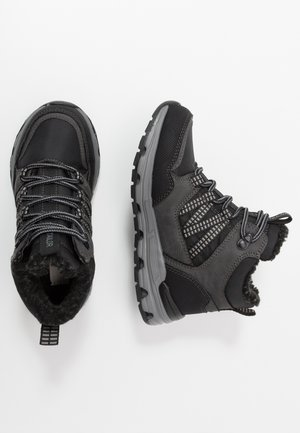 Lace-up ankle boots - black/grey