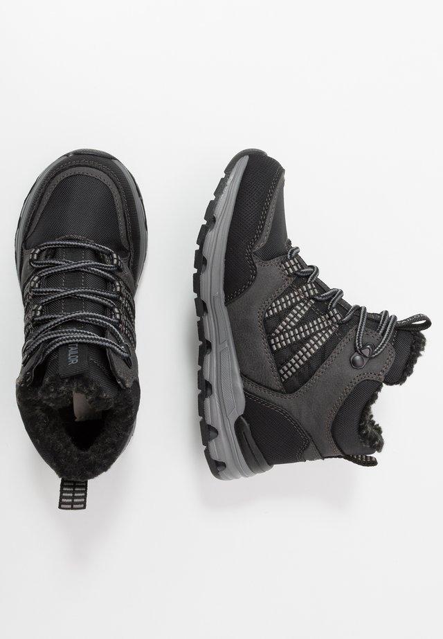 Šněrovací kotníkové boty - black/grey