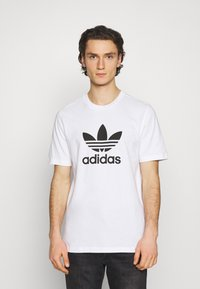 adidas Originals - TREFOIL UNISEX - T-shirt med print - white/black - 0