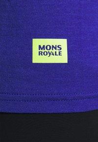 Mons Royale - TEMPLE TECH  - Jednoduché triko - ultra blue/black - 5