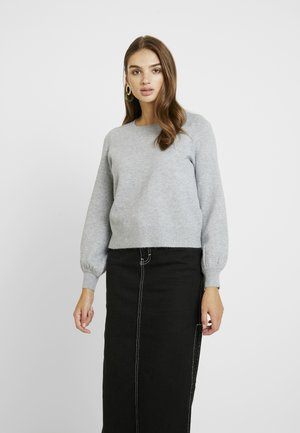 ONLRIKKE O NECK - Jumper - light grey melange