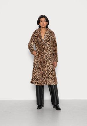 LADIES WOVEN COAT - Winter coat - beige panther