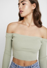 Missguided - NECK CROPPED JUMPER - Strickpullover - olive - 4