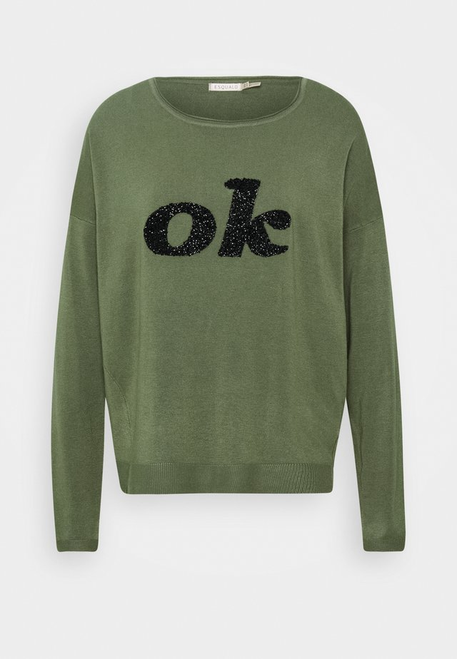 SEQUINS OK - Maglione - mermaid green