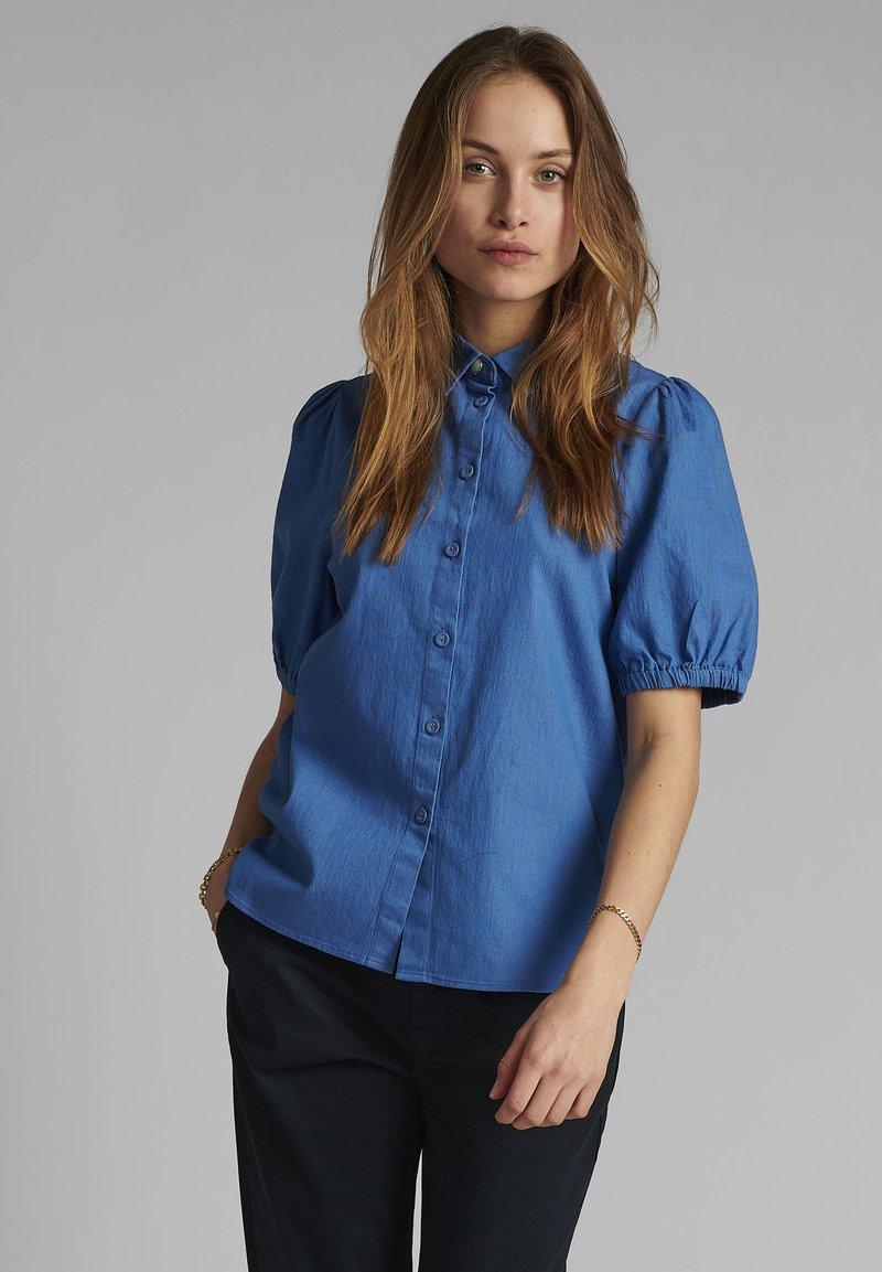 Nümph - Button-down blouse - medium blue denim