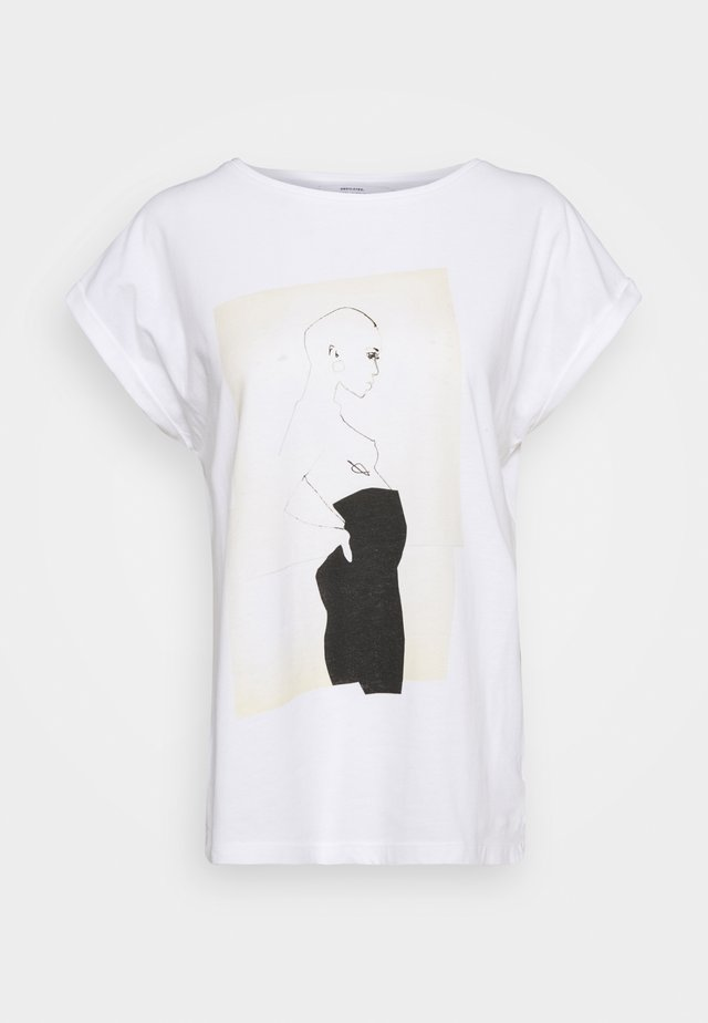 VISBY PANTS - T-shirt imprimé - white