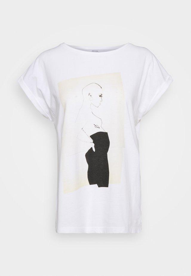 VISBY PANTS - T-shirt print - white