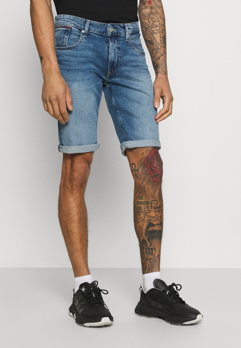Tommy Jeans - RONNIE RELAXED - Jeansshorts - blue denim