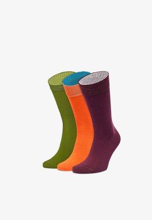 LAUBGESTÖBER  3 PACK - Socks - grün,orange,rot