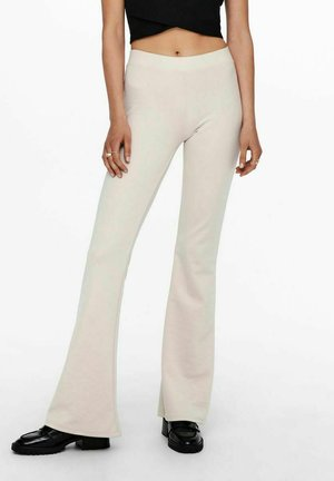 ONLFEVER FLAIRED PANTS - Trousers - pumice stone
