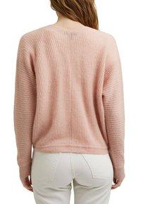 Esprit Collection - V NECK CARDIGAN - Cardigan - nude - 2