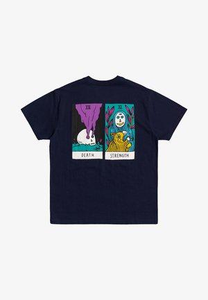 T-shirt print - moody blue