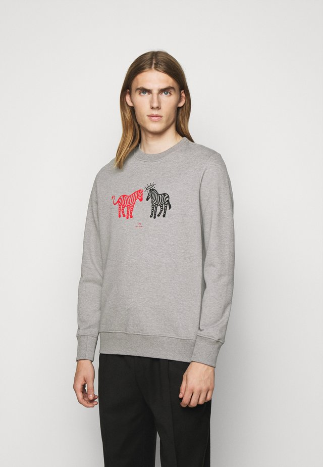 MENS REGULAR FIT ZEBRAS - Sweater - grey