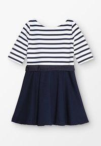 Polo Ralph Lauren - PONTE STRIPE - Robe en jersey - french navy/white - 1