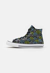 Converse - CHUCK TAYLOR ALL STAR ALL OVER YETI UNISEX - Zapatillas altas - black/azure haze/lemon - 0