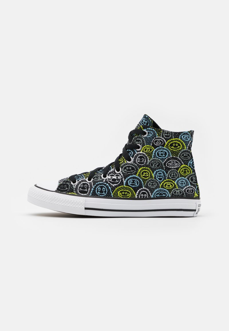 Converse - CHUCK TAYLOR ALL STAR ALL OVER YETI UNISEX - Zapatillas altas - black/azure haze/lemon