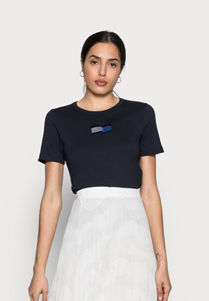 ICON SLIM OPEN TOP - Print T-shirt - blue