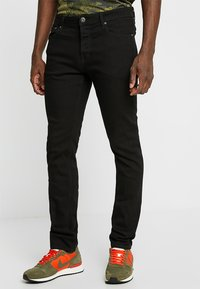 Jack & Jones - JJIGLENN JJORIGINAL - Jeans Slim Fit - black denim - 0