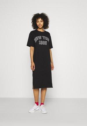 ONLNICOLE SLIT DRESS  - Day dress - black/white