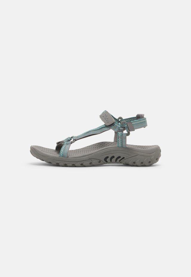 REGGAE - Walking sandals - grey/teal