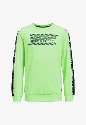 MET 3D-OPDRUK EN TAPE - Long sleeved top - bright green