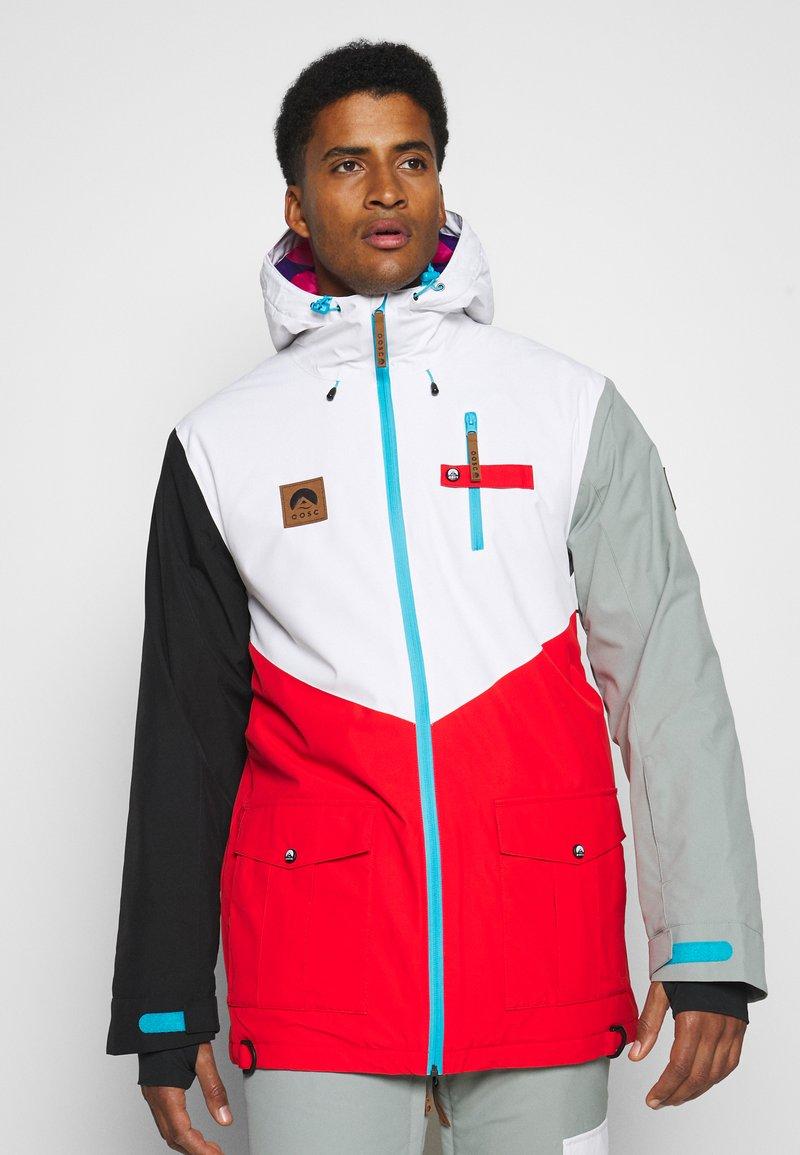 OOSC - FRESH POW JACKET - Lyžařská bunda -  white/red/black/grey