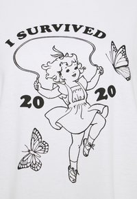 NEW girl ORDER - SURVIVED TEE - T-shirts med print - white - 2