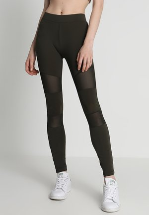 TECH - Leggings - Trousers - darkolive