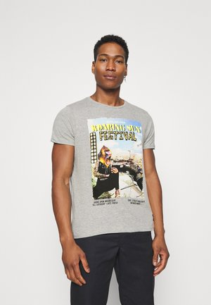 CONCERT - Print T-shirt - light grey marl