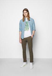 Polo Ralph Lauren - UNEVEN - T-shirt med print - white - 1